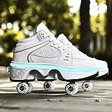 qmj Rollschuhe Schuhe Mit Rollen 2-in-1-multifunktions-turnschuhe Verstellbare...