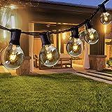 Opard Lichterkette Außen 7.5M 28er Lichterkette G40 Glühbirnen Glühbirnen...