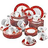 VEWEET, Serie Christmastree, 60-teilig Set Tafelservice, Geschirr Set für 12...