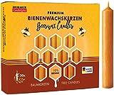 Brubaker 20er Pack Baumkerzen 10% Bienenwachs Weihnachtskerzen Pyramidenkerzen...