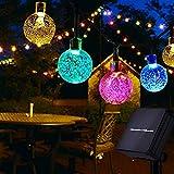 Usboo® Solar Lichterkette, 10 Meter 60 bunte LED für Innen & Außen mit...
