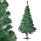 Juskys Weihnachtsbaum 150 cm künstlich mit Ständer – Tannenbaum naturgetreu -...