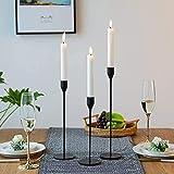 Wuudi Kerzenständer Set 3 Kerzenhalter aus Metall Vintage Kerzenständer Tischdeko...