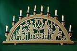 yanka-style XL Schwibbogen Lichterbogen Leuchter Bergleute traditionelles Motiv 70 cm...
