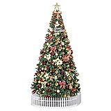DLPY LED Künstlicher Weihnachtsbaum,mit Red Dekorationen Vordekoriert Xmas Tree 600...