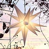 Mit LED Außenstern 65 cm weiß beleuchteter Stern, Wetter- und frostbeständig,...