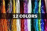 12sortierte Farben 0,3mm Flashabou Lametta holografisch flach Mylar Kristall...