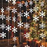 NEPAK 16 X 1,9Meter Weihnachten Winter Girlande Schneeflocken,Schneeflocke...