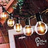 Lichterkette Außen, IREGRO Lichterkette Glühbirnen Außen, Garten Lichterkette,...