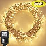 200 LED Lichterkette, Tomshine 23M Lange Lichterkette Steckdose für Innen und...