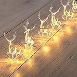 teyiwei 10 LED Rentier Weiße Lichterketten mit Batteriebetriebenen Weihnachtsbäumen...