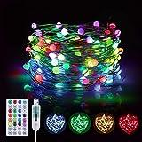 10M Bunt Lichterkette Innen, BSLED 16 RGB Farben 12 Modi USB Kupferdraht Wasserdicht...