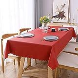 WELTRXE Tischdecke, PU Tischtuch Wasserabweisend und Ölabweisend, abwaschbar Tisch...