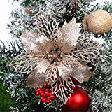 GLITZFAS 12 Stück Glitter Weihnachtsbaum Dekoration, Weihnachtsbaumschmuck Ornament...