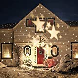 SMITHROAD IP67 LED Projektionslampe Sterne Muster Strahler für Weihnachten Innen und...