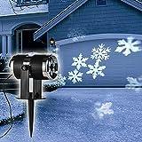 LED-Strahler Schneeflocken mit 4 kalt-weißen LEDs Projektionsstrahler
