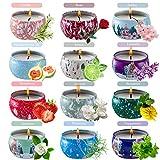Duftkerze Geschenke Set für Weihnachten, Natürliches Sojawachs Aromatherapie Kerzen...