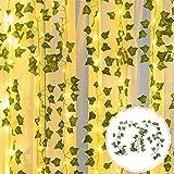 Lichterkette mit Blättern 2 m 20 LEDs Efeu Lichterketten Künstliche Kunstpflanzen...