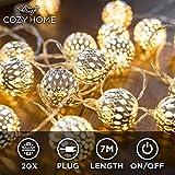 CozyHome marokkanische LED Lichterkette – 7 Meter   Mit Netzstecker NICHT...