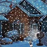 LED Schneeflocke ProjektorLicht Wasserdicht Weihnachten Schneefall Projektor Leuchten...