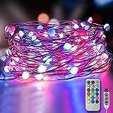 LED Bunt Lichterketten 10m 100 Leds, Homegoo USB Powered 12 Farben Ändern 12 Modi...