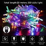 Lichterkette 200 LED 23M Lange Wasserdicht mit Stecker, Deko, Zimmer, Innen,...