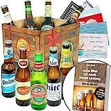 BIERE DER Welt Geschenk Box Männer + inkl Bierbuch + inkl Geschenkkarten + Bier...
