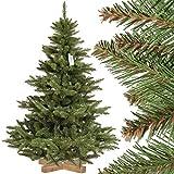 FairyTrees künstlicher Weihnachtsbaum NORDMANNTANNE, grüner Stamm, Material PVC,...
