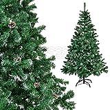 [DQ-PP] Weihnachtsbaum 150cm weiß LUX + künstlich Tannenbaum Christbaum Dekobaum...