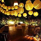 Qedertek Solar Lichterkette Lampion Außen 6 Meter 30 LED Laternen 2 Modi Wasserdicht...