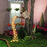 Star Shower Garden Art LED-Licht, Solar Gießkanne Fairy Garden Light, Duschlicht...