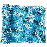 Tarnnetz Tarnnetz für die Jagd Militär Motto Dekoration Sonnenschutz Camping, blau,...