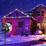 LED RGB Schneeflocke ProjektorLicht Wasserdicht Weihnachten Schneefall Projektor...