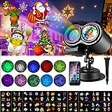 Weihnachten LED Projektorlampe, 20 Folien ALED LIGHT Projektor Lichter...