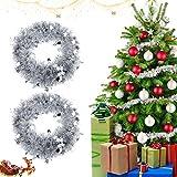 Metallische Girlanden, 2 x 2M Weihnachten Lametta Girlande,Festliches Weihnachten...