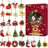 Toyvian 24 Stück hängende Ornamente, Weihnachtsanhänger Weihnachten Dekoration...