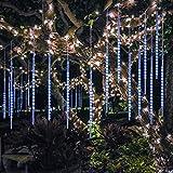 BlueFire Aufgerüstet Meteorschauer Lichterkette, 50cm 10 Spirale Tubes 540 LEDs...