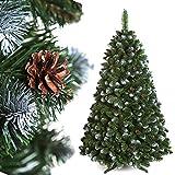 DecoKing 60704 Premium Serie 150 cm künstlicher Tannenbaum Weihnachtsbaum mit Zapfen...